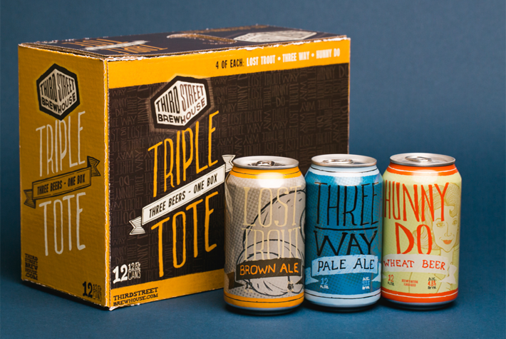 Third Street Brewhouse Variety Pack Packaging Design Cans