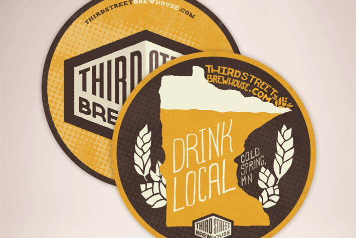 Third Street Brewhouse Minnesota Gold Lager Drink Coaster Designs