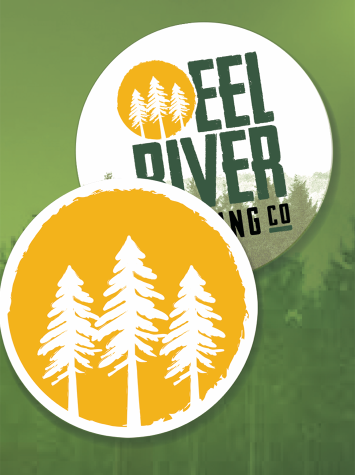 Eel River Brewing Company Coaster Design