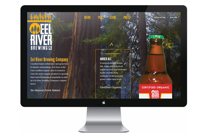 Eel River Brewing Company Website Design