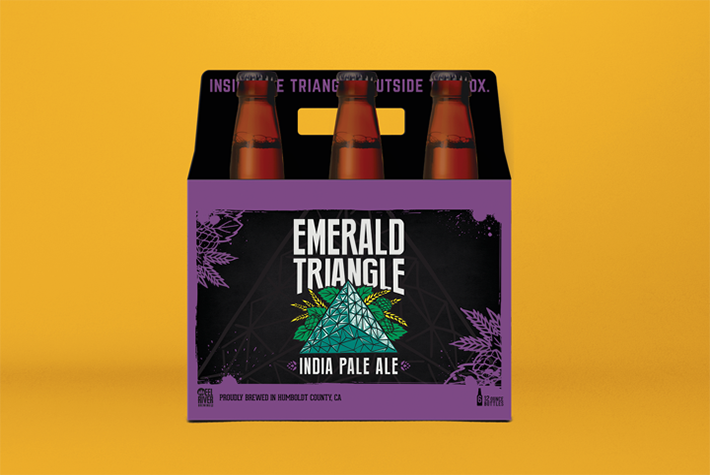 Eel River Brewing Company Emerald Triangle 6 Pack Carrier Packaging