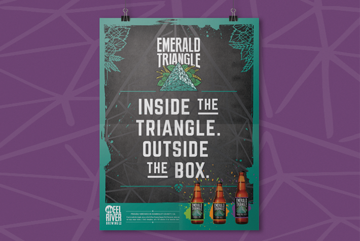 Eel River Brewing Co Emerald Triangle Poster