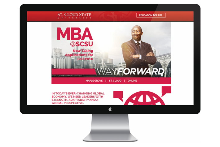 St Cloud State University Website Landing Page Design
