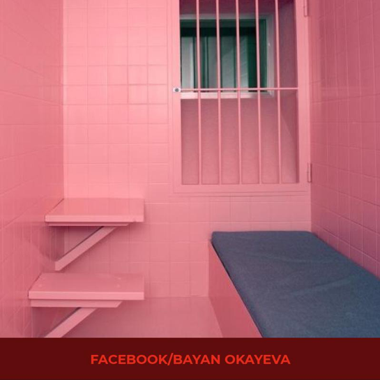 pink in a prison cell