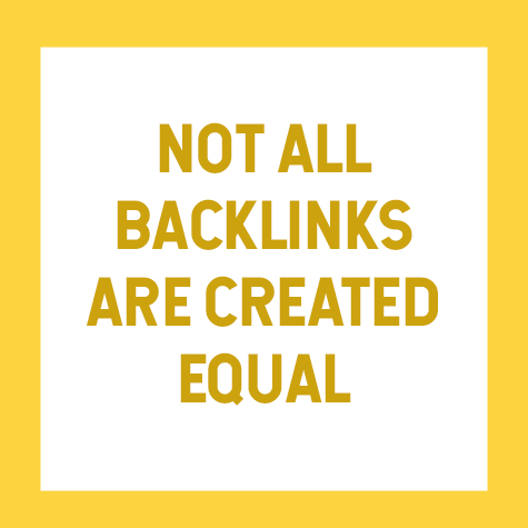 not all backlinks are created equal